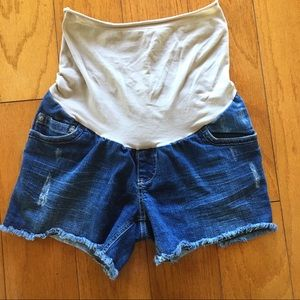 Maternity Motherhood denim jean shorts Women Small